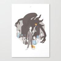 alien Canvas Prints featuring Alien by Florey