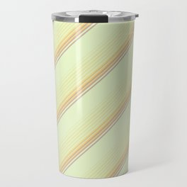 Spring Green Inclined Stripes Travel Mug