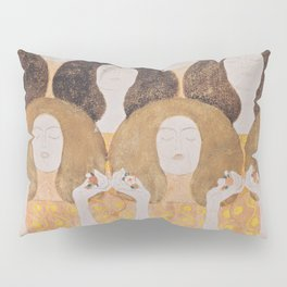 Gustav Klimt - Choir of Angels (Chor Der Paradiesengel) Pillow Sham