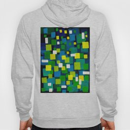 "Original Abstract Acrylic Painting by  ""City Lights"" Colorful Geometric Square Pattern Gre Hoody"