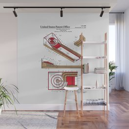 Skee Ball Patent Wall Mural