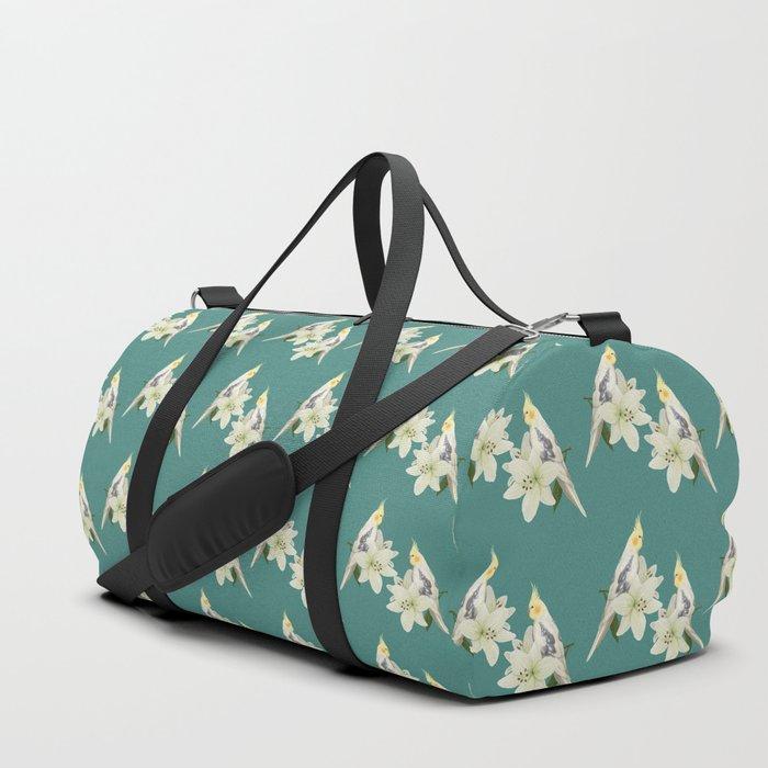 Pied Cockatiel Duffle Bag
