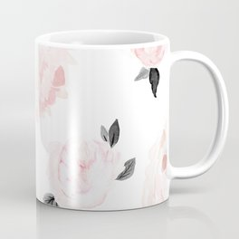 Vintage Blush Floral - BW Coffee Mug