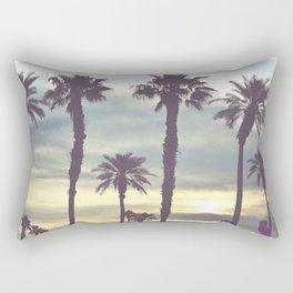 Los Angeles Sunset Palm Trees Rectangular Pillow