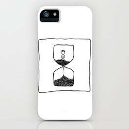Time is what we want most, but what we use worst.  iPhone Case