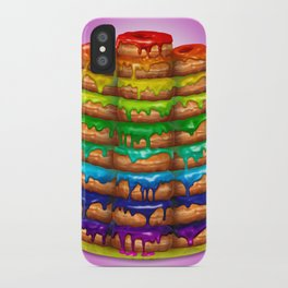 Donuts I 'Sweet Rainbow' iPhone Case
