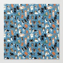 Hound District blue Canvas Print