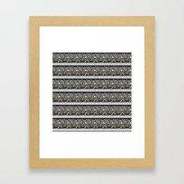 Mt Cook/Kowhai Stamp Collage Framed Art Print