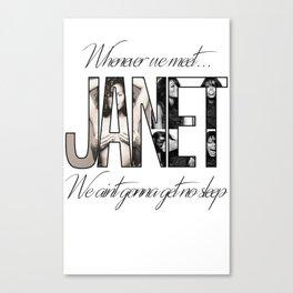 Janet Jackson No Sleep Canvas Print