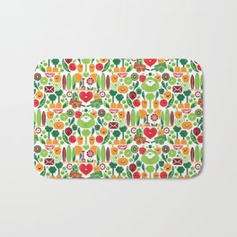 Vegetables tile pattern Bath Mat