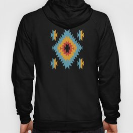 Santa Fe Southwestern Native Navajo Indian Tribal Geometric Pattern Hoody