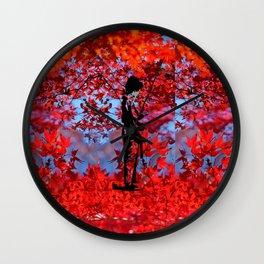 Autumn Kimono Wall Clock