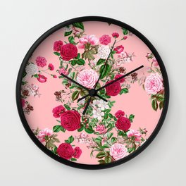 Spring In Bloom Pink Wall Clock