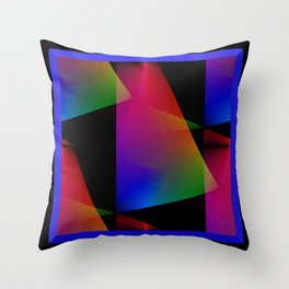 Sailing Abstract Throw Pillow