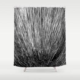 Electroshock Black+White Shower Curtain