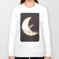 lunar Long Sleeve T-shirts featuring Lunar Child by Annisa Tiara Utami