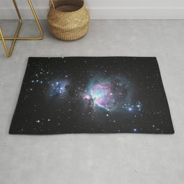 Great Orion Nebula M42, in the constellation of Orion, Milky Way Rug