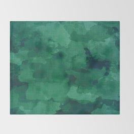emerald watercolor Throw Blanket