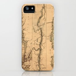 Map Of The Hudson River 1777 iPhone Case