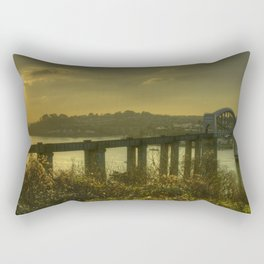 Brunel Bridge Sunset Rectangular Pillow