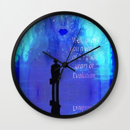 """Critical Mother Nature"" by surrealpete Wall Clock"