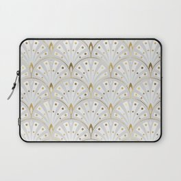 marble and gold art deco scales pattern Laptop Sleeve