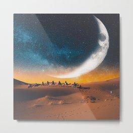 Morocco's desert Metal Print