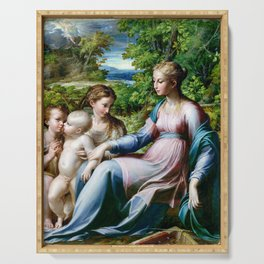 Parmigianino Virgin and Child with St. John the Baptist and Mary Magdalene Serving Tray