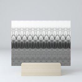 Loom: Black and White, November Trees Mini Art Print