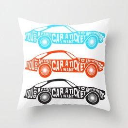 A Fast Sport Car Throw Pillow