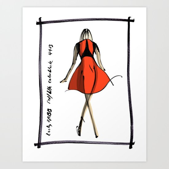 Red and Black at Lucky FABB Art Print