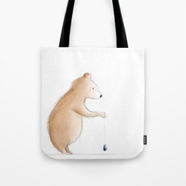 Bear with Yoyo Tote Bag