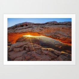 A Canyonland Sunrise - Mesa Arch - Moab Utah USA Art Print