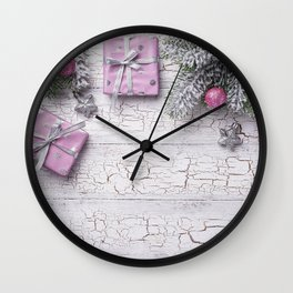 Photo Christmas Star decoration Box Gifts Balls Wo Wall Clock