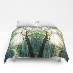 Bamboo Forest Geometry Comforters
