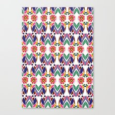 Gypsy Floral on White Canvas Print