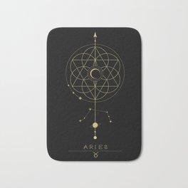 Aries Zodiac Constellation Bath Mat