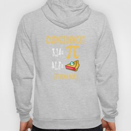 3.14 Pi Pie Coincidence Math Symbols-I Think Not Pun Hoody