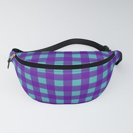 Buffalo Check Plaid in Purple and Turquoise Fanny Pack