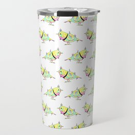 Neon Bird Travel Mug