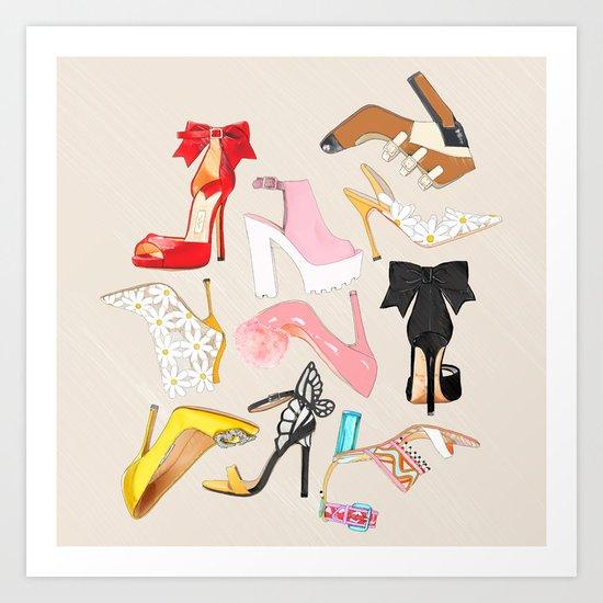Shoes Full Time Love Art Print