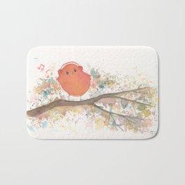 Birds in Music Bath Mat