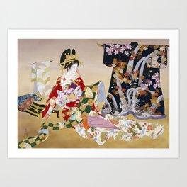Haruyo Morita Adesugata Art Print