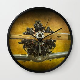 Front End of a Fairchild PT-23 Cornell Monoplane Wall Clock