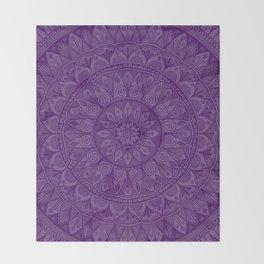 Plum Mandala 5 Throw Blanket