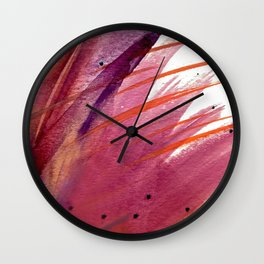 Tigerlily: a vibrant, colorful, watercolor piece in pink, purple, orange, and reds Wall Clock