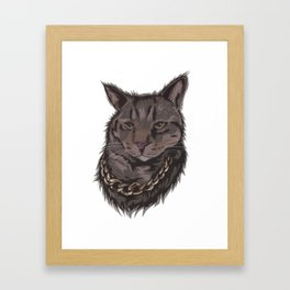 Smokey the Cat Framed Art Print