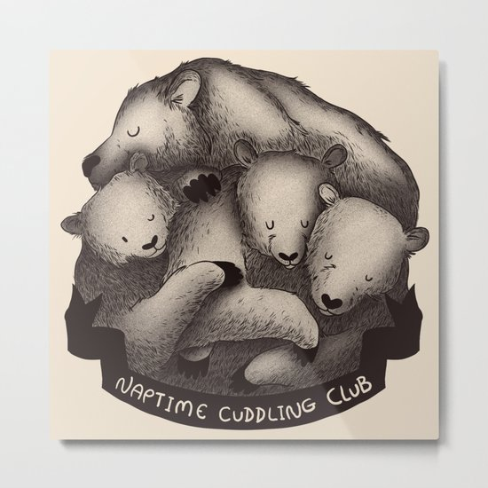 Naptime Cuddle Club Metal Print
