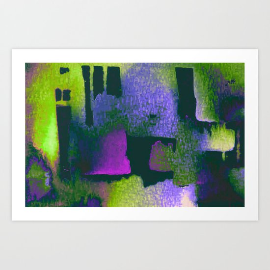 abstract in green Art Print