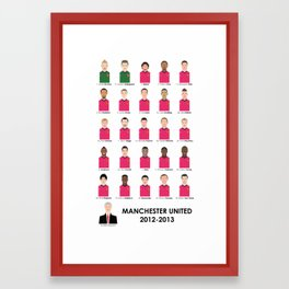Manchester United 2012 - 2013 - Alex Ferguson Framed Art Print